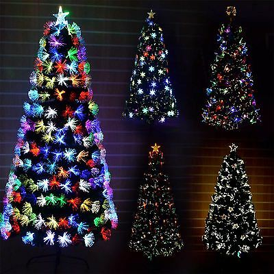 Pre-Lit Artificial Xmas LED Fibre Optic Christmas Tree Various Design & Effects