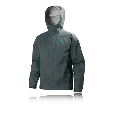 Helly Hansen Loke Mens Grey Waterproof Windproof Hooded Running Jacket Top