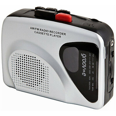 Groov-e GVPS525 Retro Personal Cassette Player and Recorder with Earphones - Sil