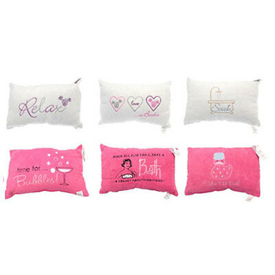 Embellished Bath Pillows In 2 Colours 6 Designs