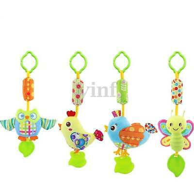 Soft Animal Handbells Musical Developmental Toy Bed Bells Kids Baby Rattle Toys
