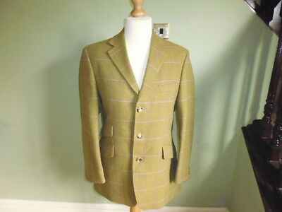 "Bladen 100% Lambswool men's tweed riding show country jacket size Uk 40"" regular"