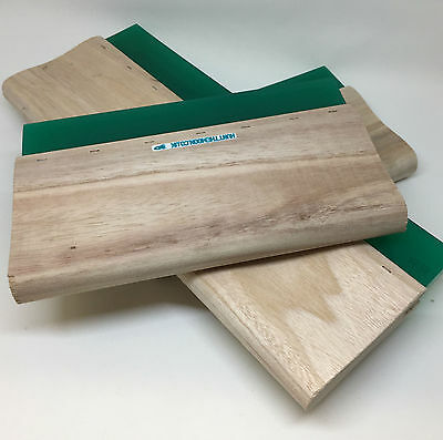 Hunt The Moon Value Wooden Screen Printing Squeegee Square Blade - Choose Width