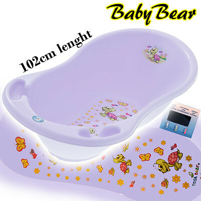 TURTLE  Large Baby Bath Tub with thermometer- 102 cm - PURPLE