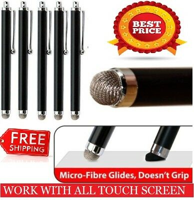 5 x BLACK  Micro-Fibre Tip STYLUS PEN for ALL IPADS ,MOBILES PHONES, ALL TABLETS