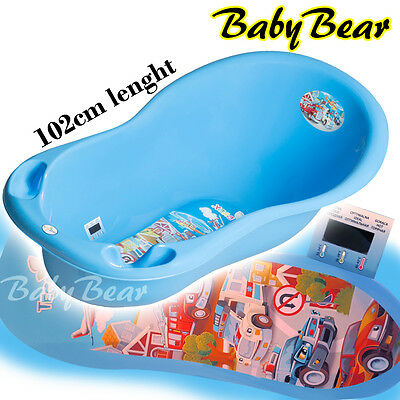CARS  Large Baby Bath Tub with thermometer - 102 cm - BLUE