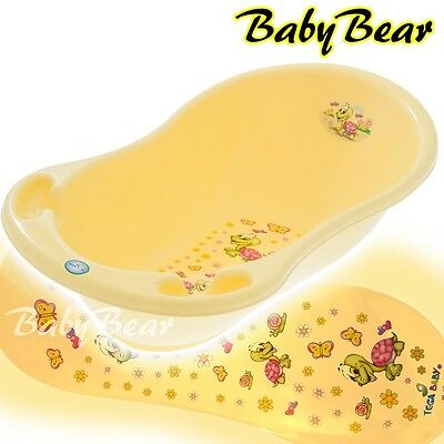 TURTLE   New born Baby Bath Tub with thermometer - 86 cm -  YELLOW