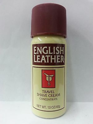 English Leather Travel Shave Cream, 1.5 oz (2 Pack)