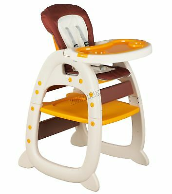 FoxHunter Baby Highchair Infant High Feeding Seat 3in1 Toddler Table Chair Beige