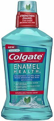 Colgate Enamel Health Anticavity Mouthwash, Sparkling Fresh Mint, 16.9 oz