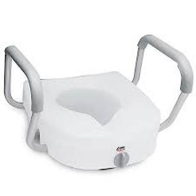 Carex E-Z Lock Raised Toilet Seat with Arms