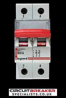 Legrand 100 Amp Double Pole Main Switch Disconnector Ac22 043 35