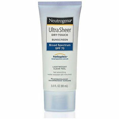 Neutrogena Ultra Sheer Dry-Touch Sunscreen, SPF 70, 3 Ounces