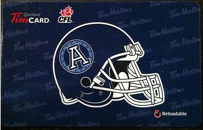 2012 Toronto Argonauts (FD29308) Tim Hortons gift card (no cash value)