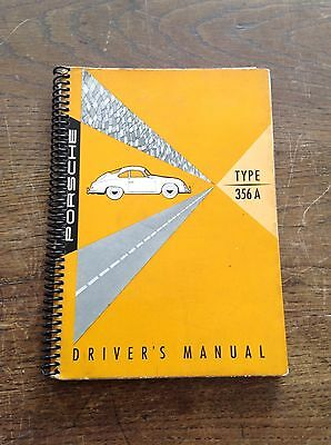 Original Porsche 356A T1 Owners Manual Oct 56 *rare
