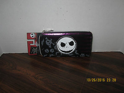 The Nightmare Before Christmas Jack ZIPPERED Wallet NEW TAGS Disney
