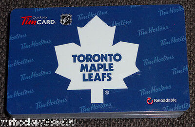 2014 Toronto Maple Leafs (FD45077) collectible Tim Hortons gift card (ncv)
