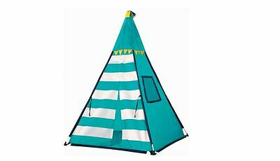 Indoor Outdoor Discovery Kids Turquoise Adventure Teepee Tent  Safe Durable Fun
