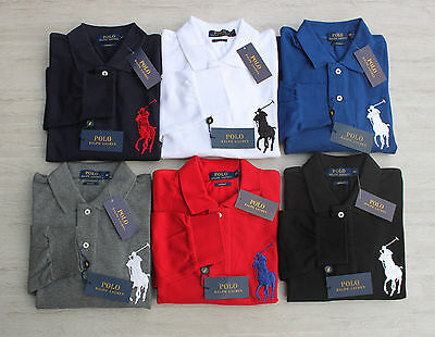Brand New Tags Ralph Lauren Polo Big Pony Long Sleeve Custom Fit Size S M L XL