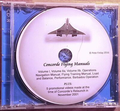 8 Concorde Flying Manuals on CD