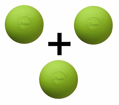 Champion Lacrosse Ball Official NFHS NCAA Massage Therapy-GREEN (3-Pack)