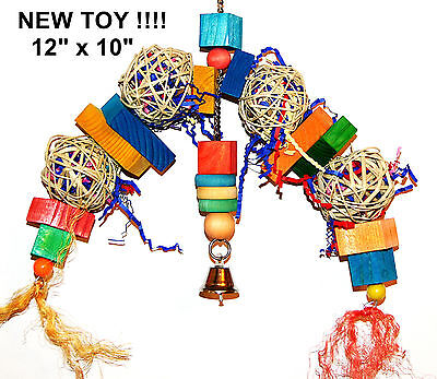 Parrot Toy Happy Dance pet bird cage toy cockatoo african grey mini macaw amazon
