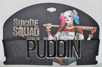 """Black Harley Quinn Suicide Squad Costume Cosplay """"puddin"""" Choker Neck Collar"""