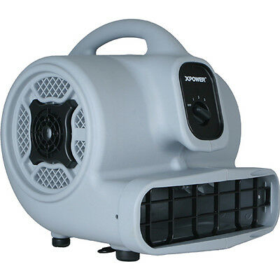 XPOWER P-400 1/4 HP 1600 CFM 3 Speed Air Mover Carpet Dryer Fan- Refurbished