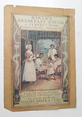 Vintage Bakers Breakfast Cocoa Print Ad Advertisement Walter Baker & Co