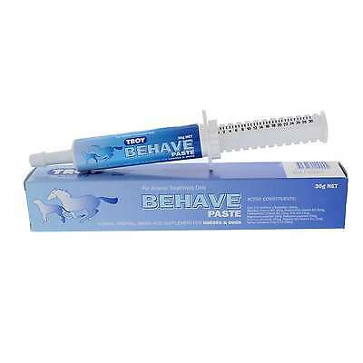 Behave Paste Horse Equine Troy 30ml Health L-Tryptophan Reduces Anger Calming