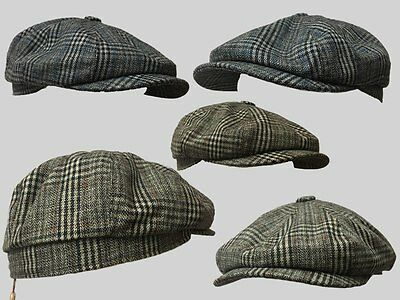 8 Panel Bakerboy,Newsboy,Peaky Blinder Flat Cap 1920S Cabbie ,Cheese Cutter
