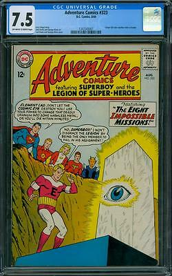 Adventure Comics 323 CGC 7.5 - OW/W PAGES