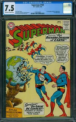 Superman 169 CGC 7.5 - OW/W Pages