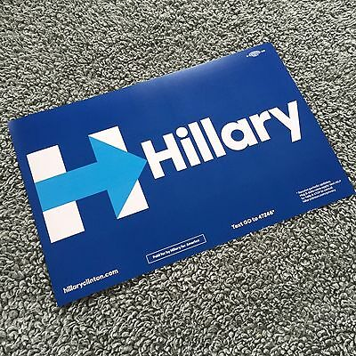 Hillary Clinton : Vote for President Campaign Rally Sign Poster 2016