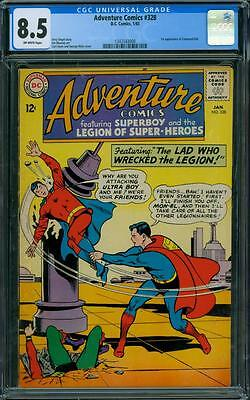 Adventure Comics 328 CGC 8.5 - OW Pages - 1st Command Kid
