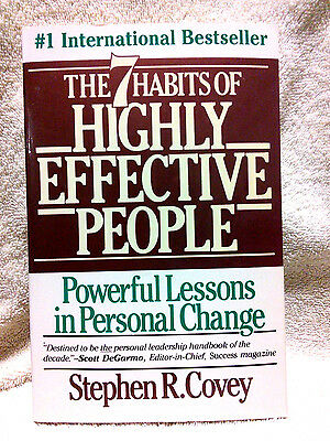 The 7 (seven) Habits of Highly Effective People by Stephen R Covey FREE SHIPPING