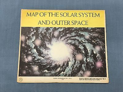 1959 Map Of The Solar System And Outer Space