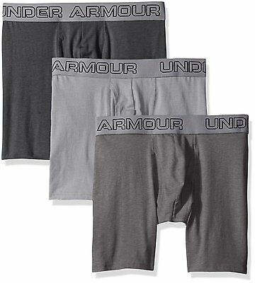 """Under Armour Men's Charged Cotton Stretch 6"""" Boxerjock 3-Pack 1277279-035"""