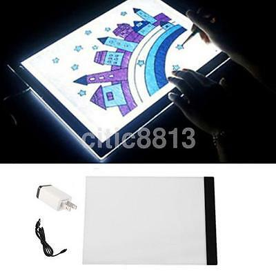 1X A4 LED Artist Thin Art Stencil Board Light Box Tracing Drawing Board Table AU