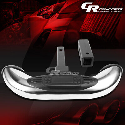 """1.25""""/2""""Receiver Chrome Stainless Steel Trailer Tow Cover Hitch Step Bar Guard"""