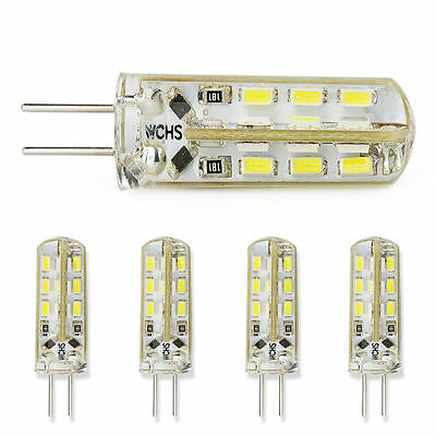 1/5/10X 3014 SMD G4 LED Light Bulb Lamp 12V 3W Warm/Cool White Silicone Crystal