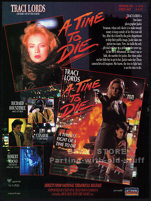 A TIME TO DIE__Original 1991 Trade AD movie promo__TRACI LORDS_Richard Roundtree