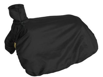 Showman Fitted Nylon Western Saddle Cover BLACK Folds Up w/Drawstring