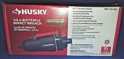 Husky 3/8 in. Butterfly Impact Wrench Air Tool NEW H4410