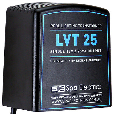 Spa Electrics - LED Pool Light Transformer - 12V 25VA - Suits 1 LED Pool Light -