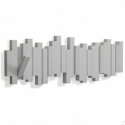 Umbra sticks attaccapanni appendiabiti grigio da muro 5 for Ganci da muro