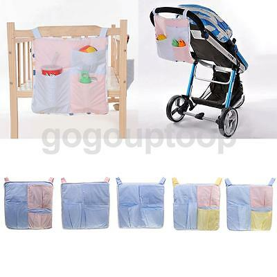 Stroller Organiser Baby Pushchair Travel Nappy Storage Changing Pouch Bag