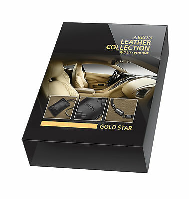 areon LEATHER Collection Golden Stars Aromatic Tree Car Scent