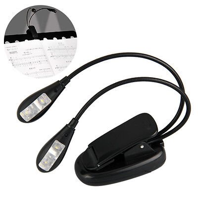 Clip 4 LED Book Reading Music Stand Light Lamp