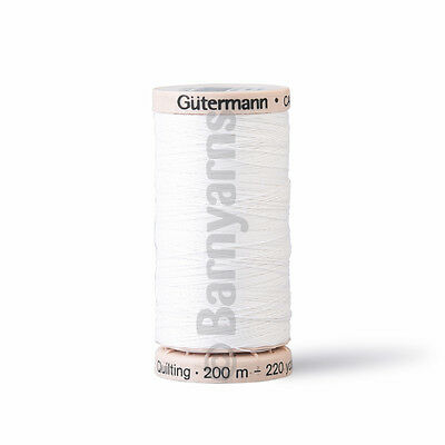 Gutermann Hand Quilting Thread 200m VARIOUS COLOURS Strong Thread Waxed